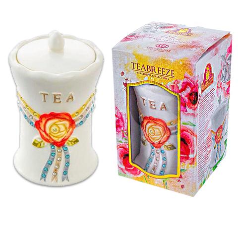 Подарочный набор Керамическая чайница Европейская кол. (чай Оолонг Ти Гуан Инь) 1кор*6бл*1 шт 100г.