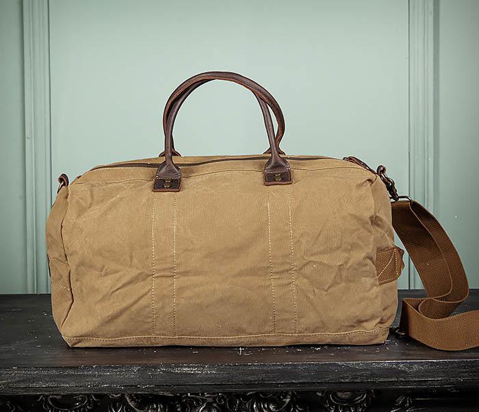 BAG500-2 Большая дорожная сумка из ткани коричневого цвета фото 10