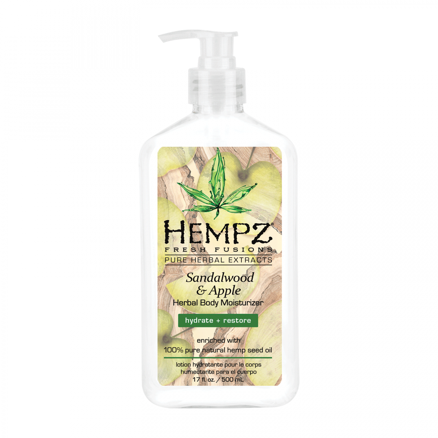 Молочко для тела HEMPZ Sandalwood & Apple Herbal Body Moisturizer 500 мл