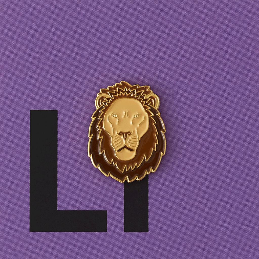 Значок металлический Зоопарк: Лев