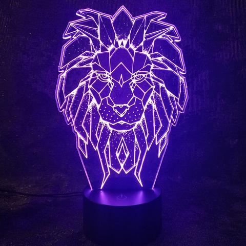 3D светильник Царь зверей - Лев