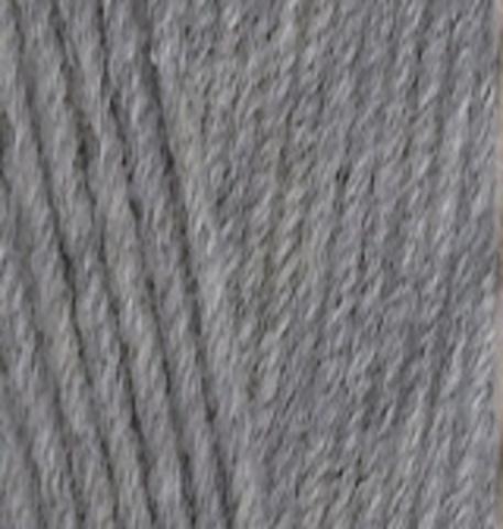 Пряжа Lanacoton Alize 21 Серый меланж, фото