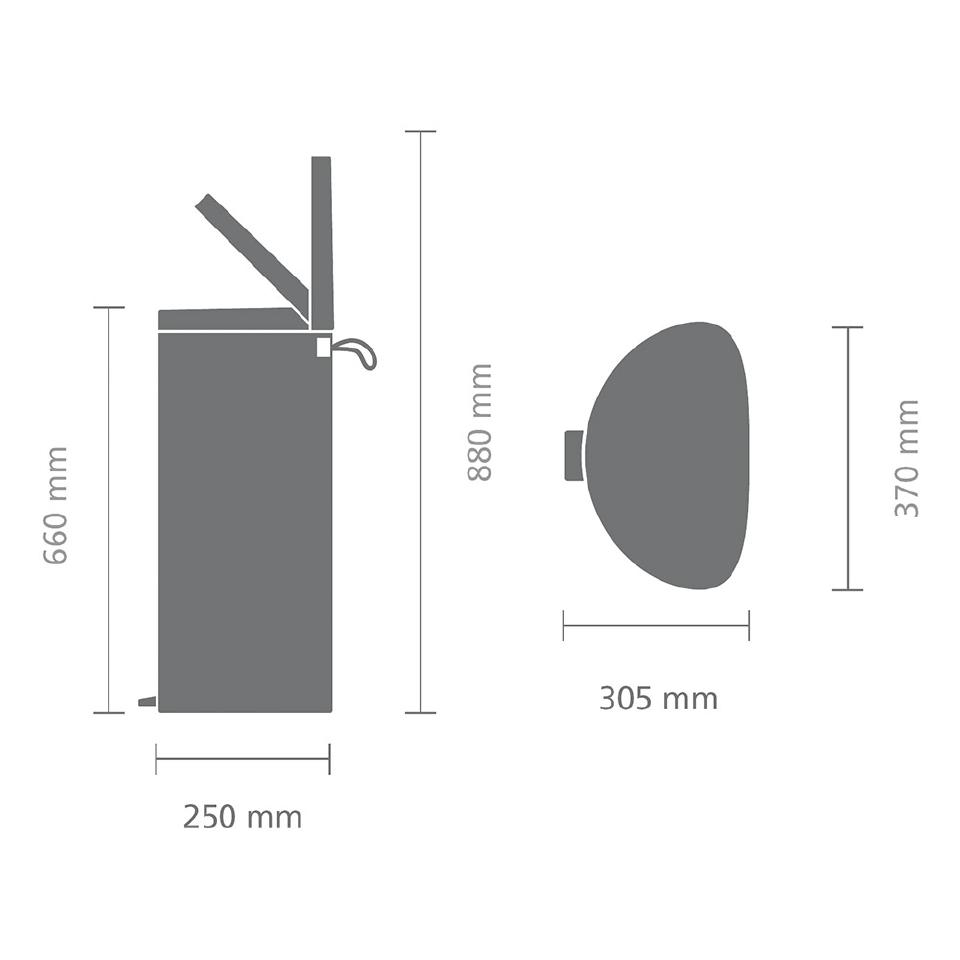 Мусорный бак FlatBack+ (30л), Белый, арт. 485206 - фото 1
