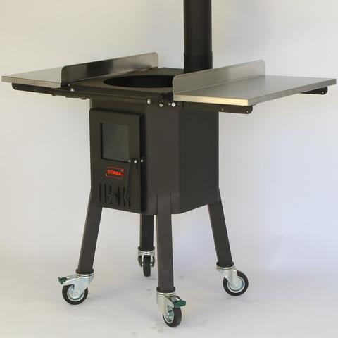 Дровяная печь для казана 20-25 литров, мобильная