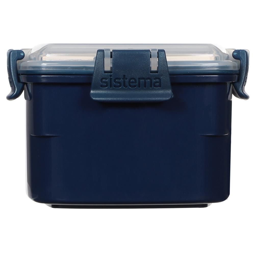 """Ланч-бокс Sistema """"Renew"""", двойной, 400 мл, цвет Синий"""