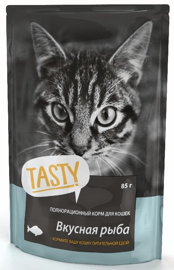 TASTY 85г пауч для кошек с рыбой в желе