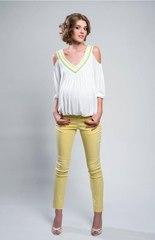 Блуза для беременных с открытыми плечами цвет молочный