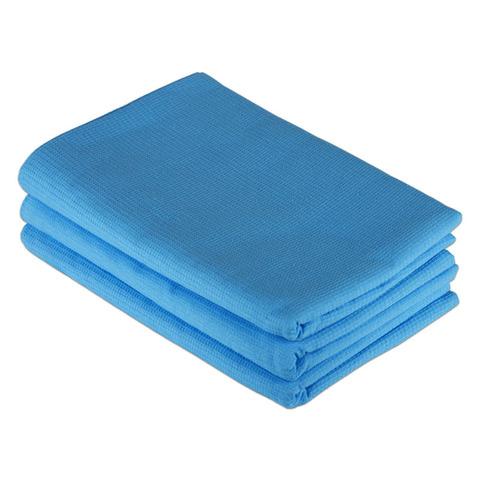 Простыня для бани и сауны вафельная голубая