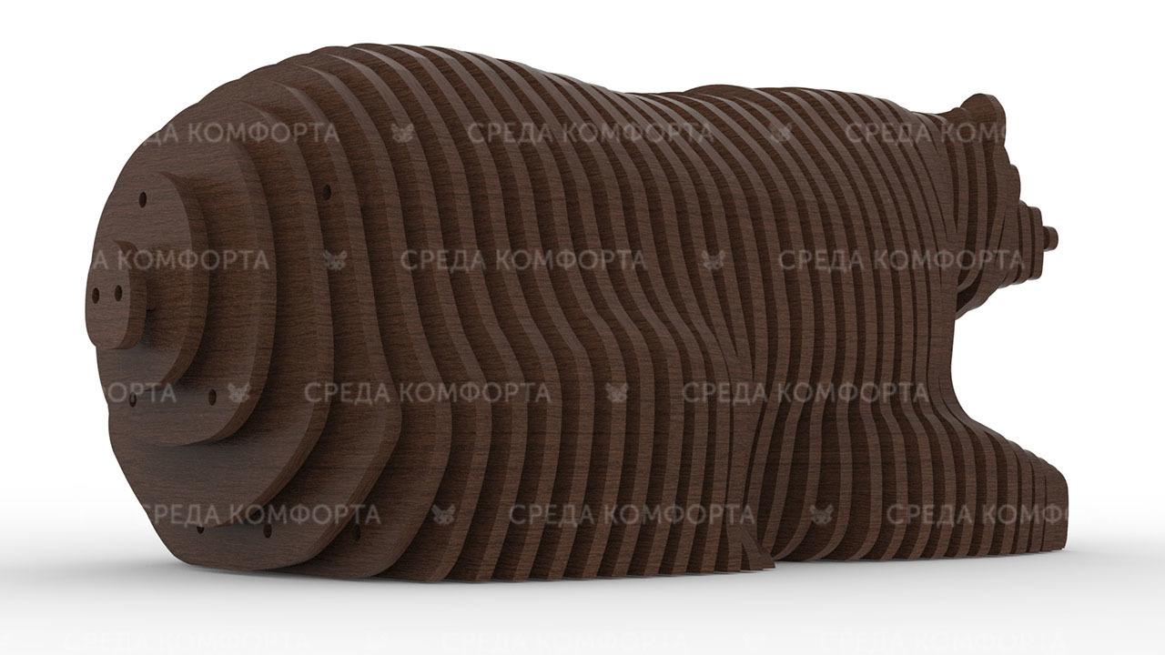 Параметрическая скамейка медведь 1422х690х580мм ART0018