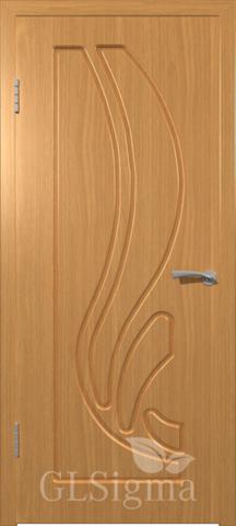 Дверь GreenLine Sigma-81, цвет миланский орех, глухая