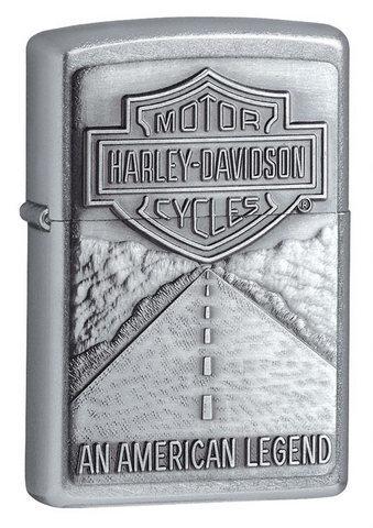 Зажигалка Zippo Harley-Davidson American Legend Emblem с покрытием Street Chrome, латунь