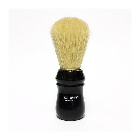Помазок для бритья Zenith кабан черная ручка, большой.Сделано в Италии