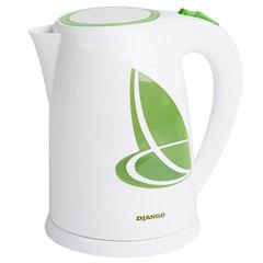 Чайник электрический 1,8л DJANGO DJ-1002 белый со светло-зеленым