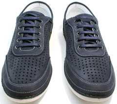 Удобные кроссовки для ходьбы мужские Vitto Men Shoes 3560 Navy Blue.