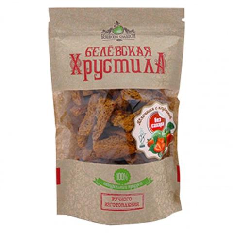 Белёвская хрустила яблочная (без сахара с клубникой) 50г  (48шт/кор)