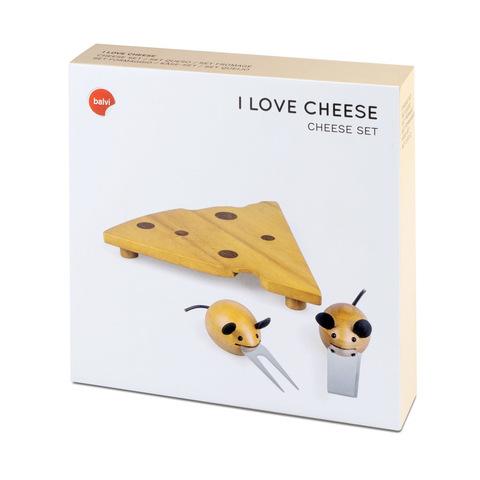 Набор приборов для сыра I Love Cheese