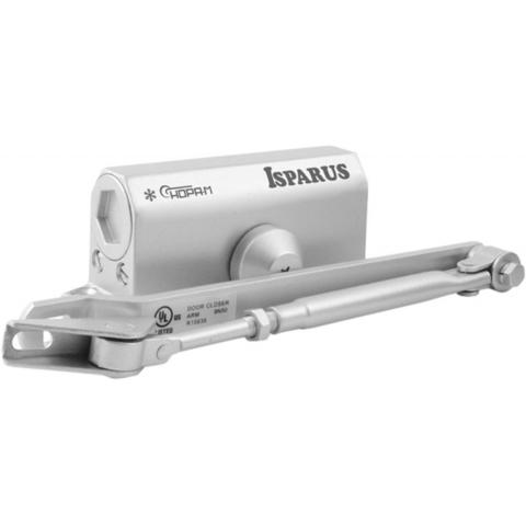 Доводчик дверной Isparus ISP 410, 15-60кг, сереб