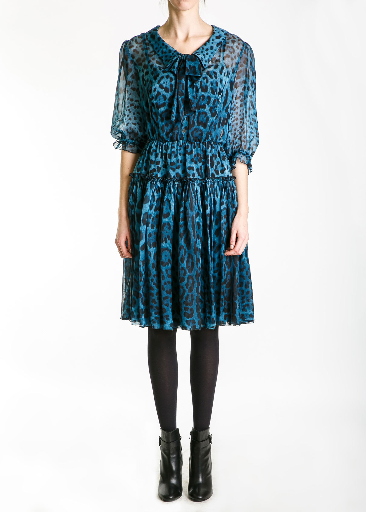 Платье из шелка DOLCE & GABBANA