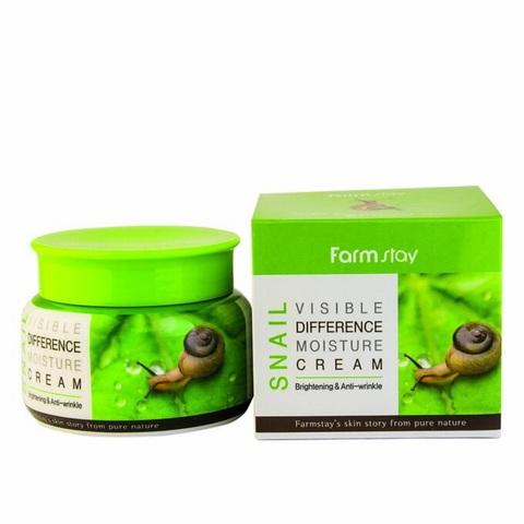 Farmstay Visible Differerce Moisture Cream Snail увлажняющий крем с улиточным муцином