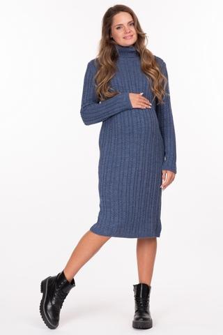 Платье для беременных 11249 синий