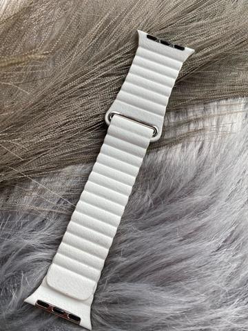 Ремешок Apple watch 42mm Leather Loop good /white/