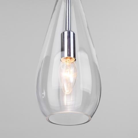Подвесной светильник со стеклянным плафоном 50202/1 прозрачный