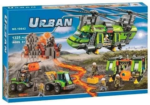Конструктор Urban 10642 Грузовой вертолет исследователей вулканов