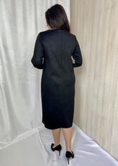 Лайма. Стильна комбінована замшева сукня. Бежевий