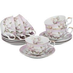 Чайный набор из фарфора на 6 персон 69-1648