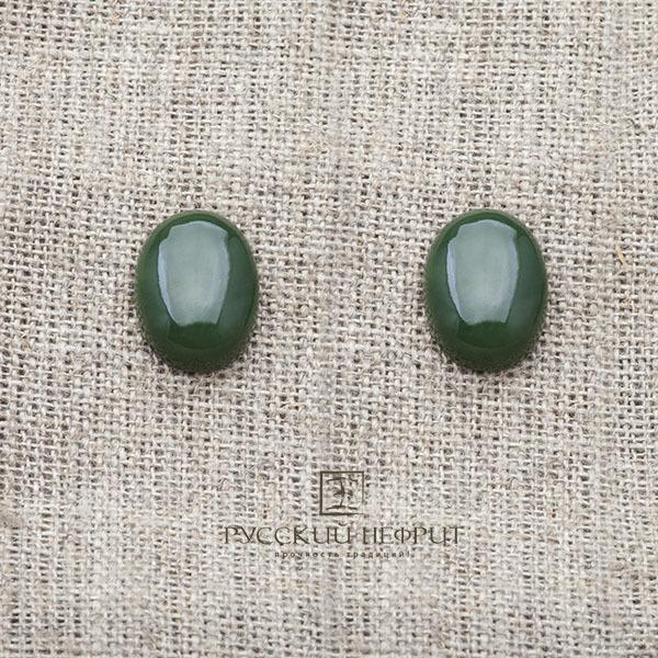 Вставки Кабошон овальный 16мм х 12мм. Зелёный нефрит (класс моде). kabashon16x12x5_5.jpg