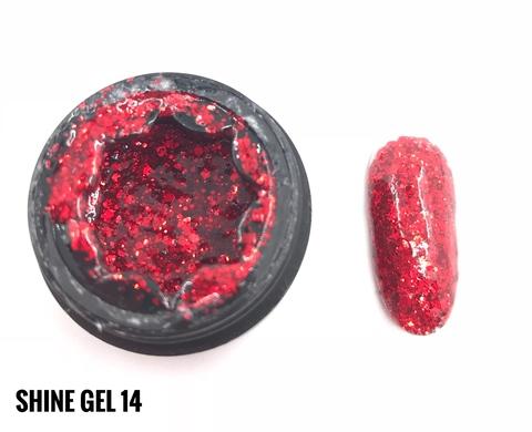 Гель-глиттер ONENAIL Shine Gel 14 5г