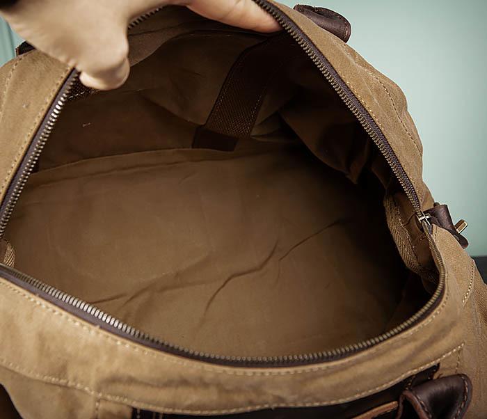 BAG500-2 Большая дорожная сумка из ткани коричневого цвета фото 13