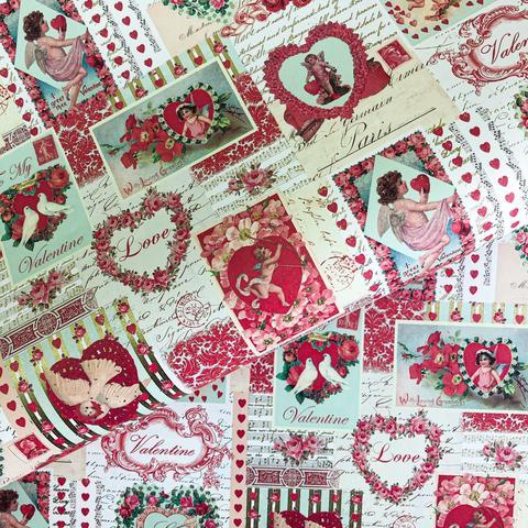 Бумага декоративная подарочная Валентинки