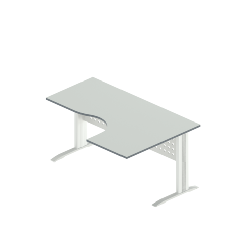 АМК-44R/L + ОА-01/1600 Стол-интеграл на металлокаркасе (160x110x75  )