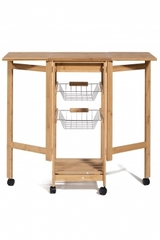 Столик передвижной кухонный разделочный (mod. 12JW3-2135) — натуральный