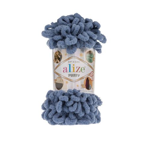 Купить Пряжа Alize Puffy Код цвета 374 Джинсовый | Интернет-магазин пряжи «Пряха»