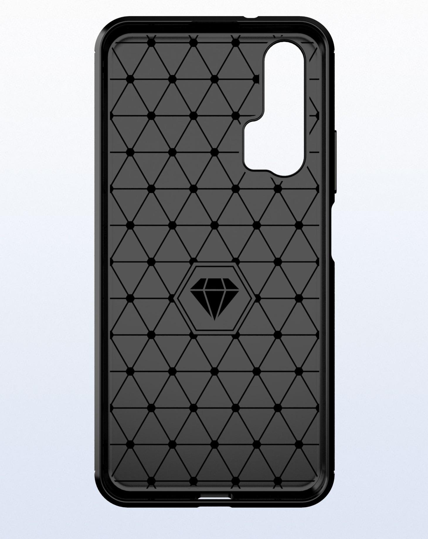 Чехол для Honor 20 (Honor 20S, 20 Pro, Huawei Nova 5T) цвет Gray (серый), серия Carbon от Caseport