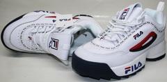 Женские белые кроссовки Fila Disruptor 2 FW01655-114