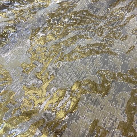 Ткань жаккард тафта золотой цвет 1048