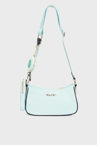 Женская бирюзовая сумка Tommy Hilfiger