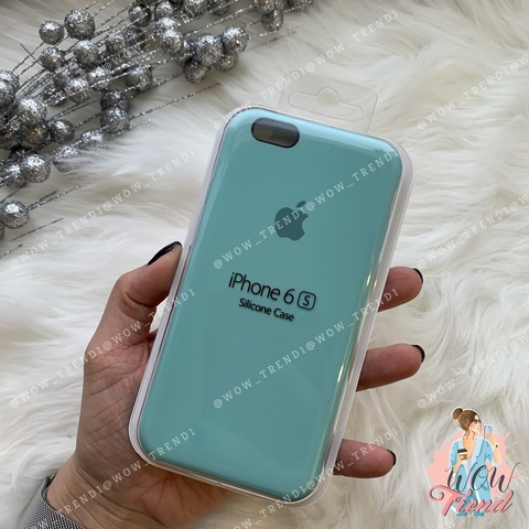 Чехол iPhone 6/6s Silicone Case /sea blue/ бирюза 1:1