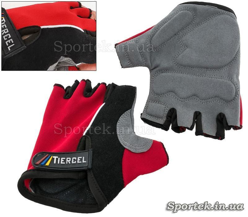 Велоперчатки Tiercel без пальців розміри S - XL