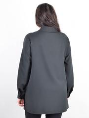 Ріана. Жіноча сорочка з шкірою plus size. Чорний.