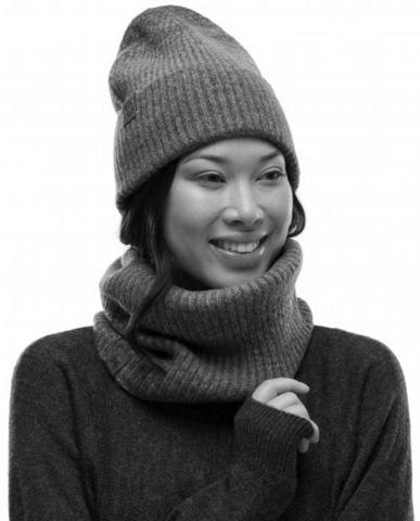 Вязаный шарф-труба с флисом Buff Neckwarmer Knitted Polar Marin Pink фото 2