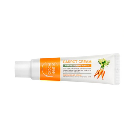 FARM STAY Carrot Cream Super Food - Увлажняющий питательный морковный крем, 60 г