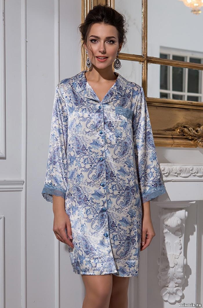 MIA-MIA (Италия) Рубашка халатик женский шелковый MIA-Amore  Дольче Вита  5917 5917.jpg