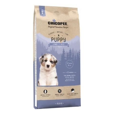 Chicopee CNL Puppy Lamb & Rice сухой корм для щенков всех пород с ягненком и рисом, 15 кг.