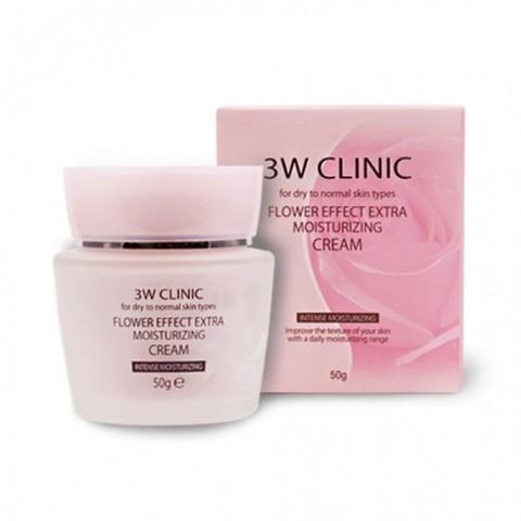 Крем для лица 3W Clinic с целебными цветочными экстрактами 50 гр