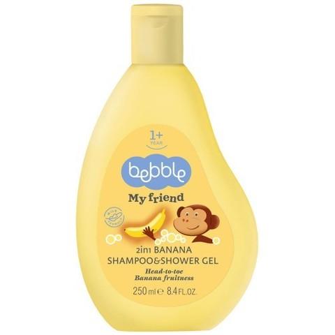 Шампунь и гель для душа 2в1 с ароматом банана Bebble (1 год+)
