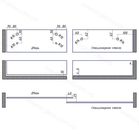 Комплект раздвижной душевой системы ST-301-2 PSS